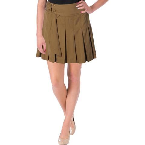 Free People Womens Lost In The Light Mini Skirt Tencel Pleated