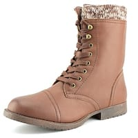 Rampage Jeliana Women  Round Toe Synthetic Brown Mid Calf Boot