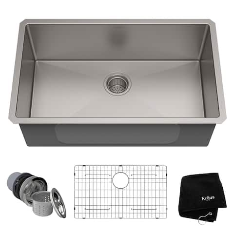 KRAUS Standart PRO Undermount 30-inch Stainless Steel Kitchen Sink
