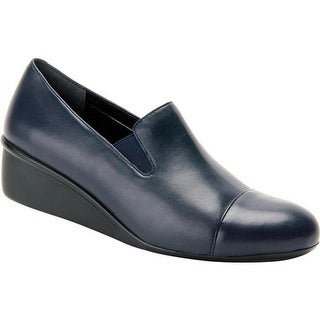 Ros Hommerson Women's Ellis Stretch Wedge Navy Leather