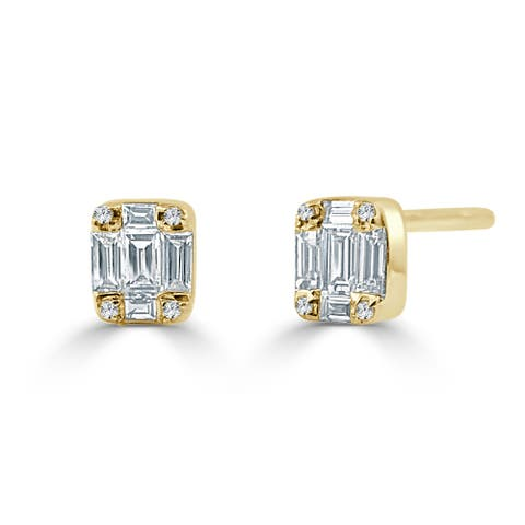 Diamond Baguette 1/4ct TDW Studs Earrings 14k Yellow Gold by Joelle Collection