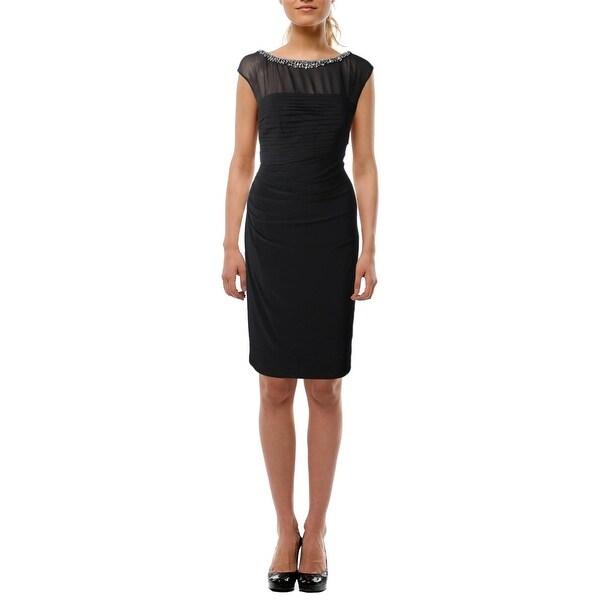 Lauren Ralph Lauren Womens Cocktail Dress Embellished Sleeveless