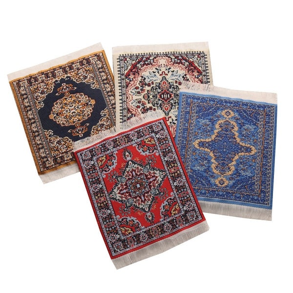 Funny Coasters - Set Of 4 Miniature Persian Rugs