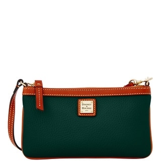 Dooney & Bourke Pebble Grain Large Slim Wristlet (Introduced by Dooney & Bourke at $88 in Jul 2016) - Hunter