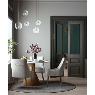 Link to Silver Orchid Chester Pleated Light Grey Velvet Side Chair Similar Items in Dining Room & Bar Furniture