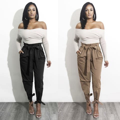 Bow Tie Casual Long Pants