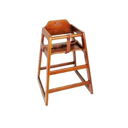 Winco - CHH-104 - Walnut Wood High Chair