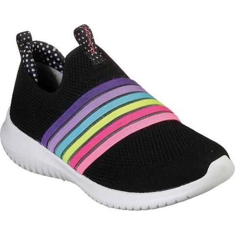 Skechers Girls' Ultra Flex Brightful Day Slip-On Sneaker Black/Multi