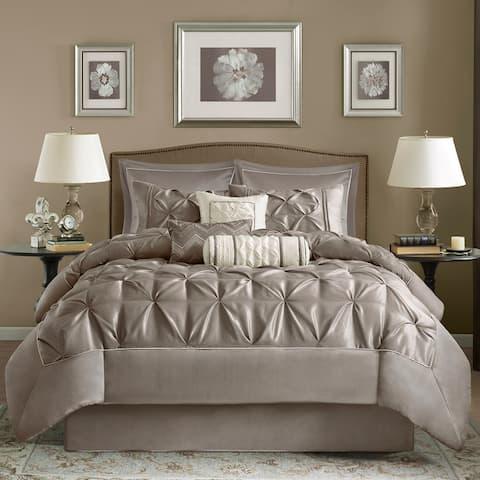 Madison Park Vivian Taupe 9 Piece Comforter Set