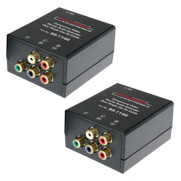 Calrad Component Video Stereo Audio Balun Over Single Cat5e Cable