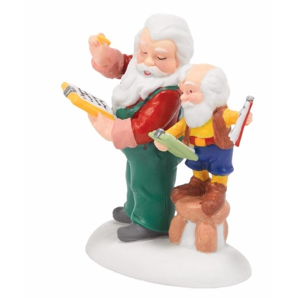 "Department 56 North Pole Series ""Check and Double Check"" Figurine #4036550 - multi"