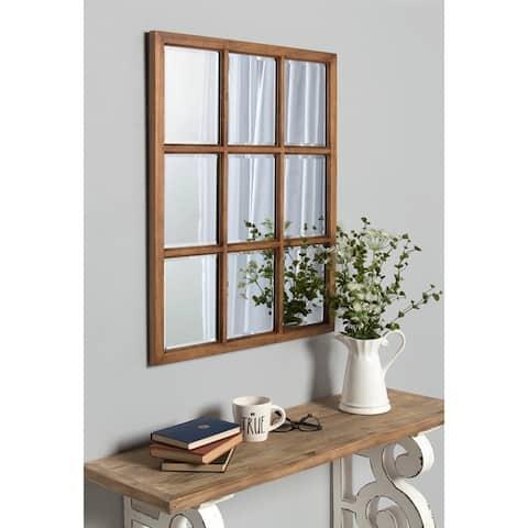Kate and Laurel Hogan 9 Windowpane Wood Wall Mirror
