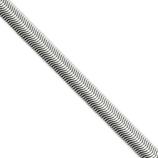 Chisel Stainless Steel 5.20mm 22 Inch Flat Snake Chain (5.2 mm) - 22 in