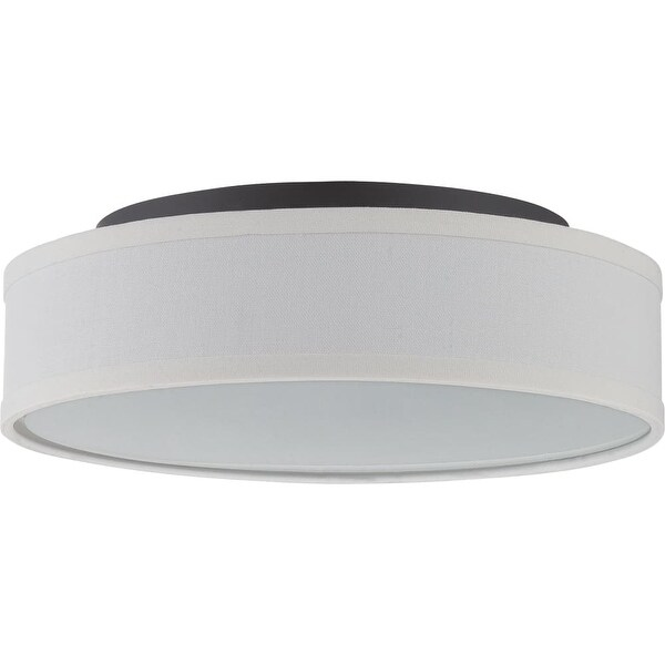 """Nuvo Lighting 62/525 Heather Single Light 13"""" Wide Integrated LED Flush Mount Drum Ceiling Fixture - Aged Bronze"""