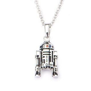 """Star Wars Blue & Red R2-D2 18"""" Stainless Steel Pendant Necklace - multi"""