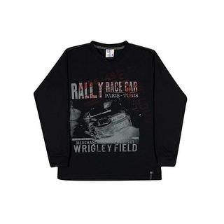Tween Boy Long Sleeve T-Shirt V-Neck Graphic Tee Pulla Bulla Sizes 10-16 Years