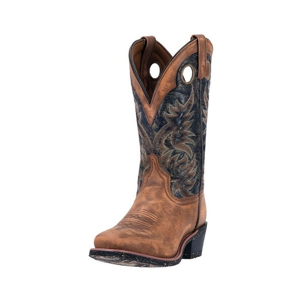 Laredo Western Boots Mens Stillwater Square Toe Stitching Brown