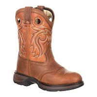 Durango Boot Children's DBT0165 Lil Rebel Little Kid Western Saddle Boot Brown/Burnt Orange Full Grain Leather