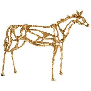 Cyan Design 09098  Ponder Iron Horse Statue - Gold