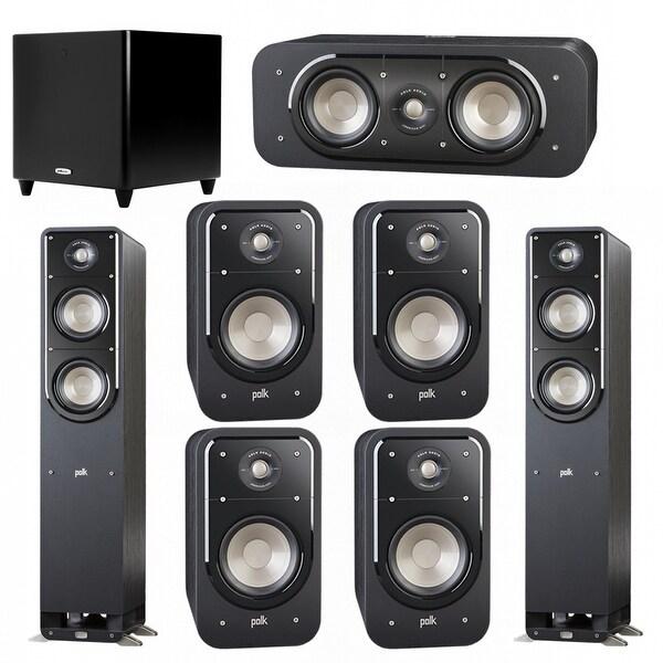 Polk Audio Signature 7 1 System with 2 S50 Speakers, 1 Polk S30, 4 Polk S20  Speakers, 1 Polk DSW PRO 550 wi Sub