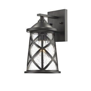 """Millennium Lighting 2500 Single Light 10"""" High Outdoor Wall Sconce with Glass Shade"""