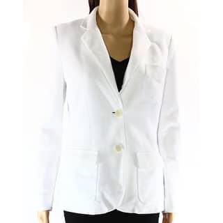 Lauren Ralph Lauren NEW White Womens Size XL Two-Button Logo Jacket|https://ak1.ostkcdn.com/images/products/is/images/direct/07bca664c420a3d0c93d3ea5aa26a1aa87075ed1/Lauren-Ralph-Lauren-NEW-White-Womens-Size-XL-Two-Button-Logo-Jacket.jpg?impolicy=medium