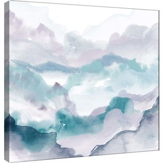 """PTM Images 9-101164  PTM Canvas Collection 12"""" x 12"""" - """"Layers of Spring C"""" Giclee Mountains Art Print on Canvas"""