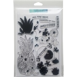"""Concord & 9Th Clear Stamps 6""""X8""""-Pineapple Perfection"""