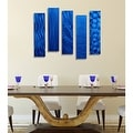 Statements2000 Set of 5 Blue Metal Wall Art Accents by Jon Allen - 5 Easy Pieces Blue - Thumbnail 1