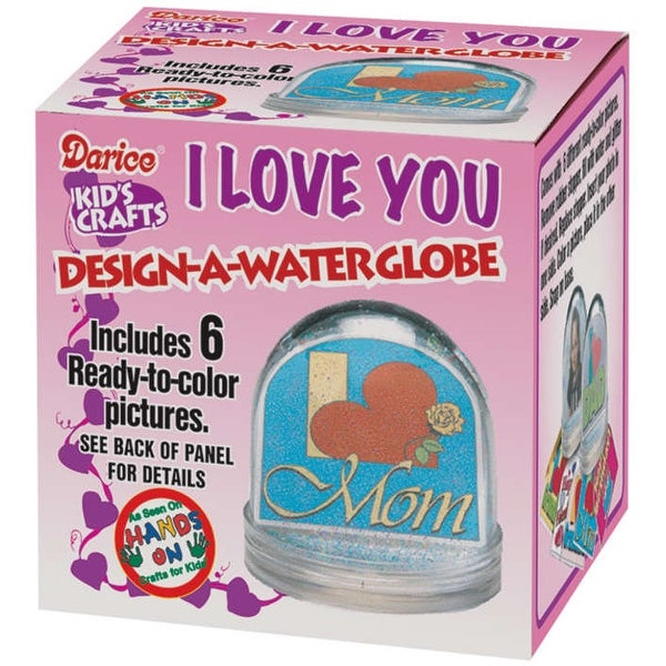 "Design-A-Waterglobe 3.25""-Clear - CLEAR"