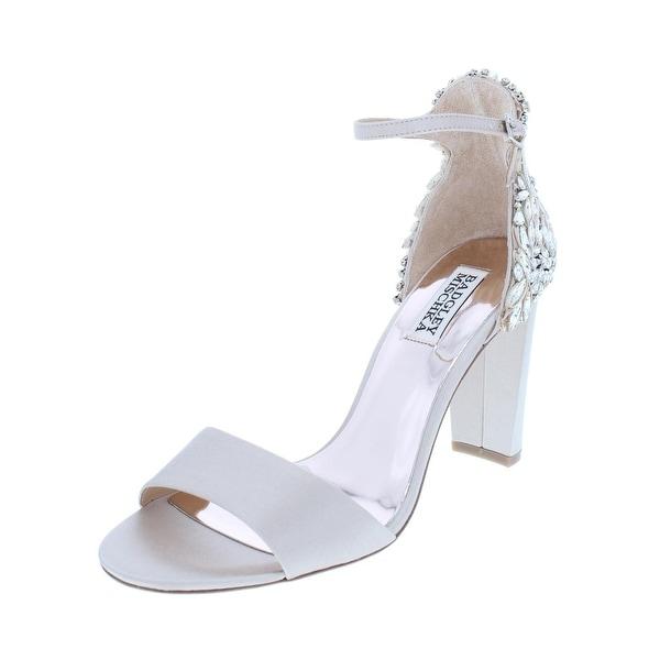 e0dd05f1ef7 Shop Badgley Mischka Womens Seina Dress Sandals Satin Block Heel ...