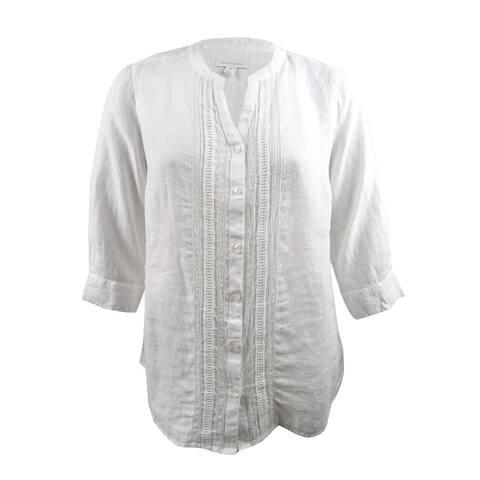 Charter Club Women's Plus Size Linen Shirt