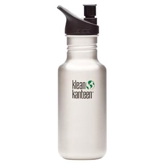 Klean Kanteen Classic 18Oz With Sport Cap Stainless