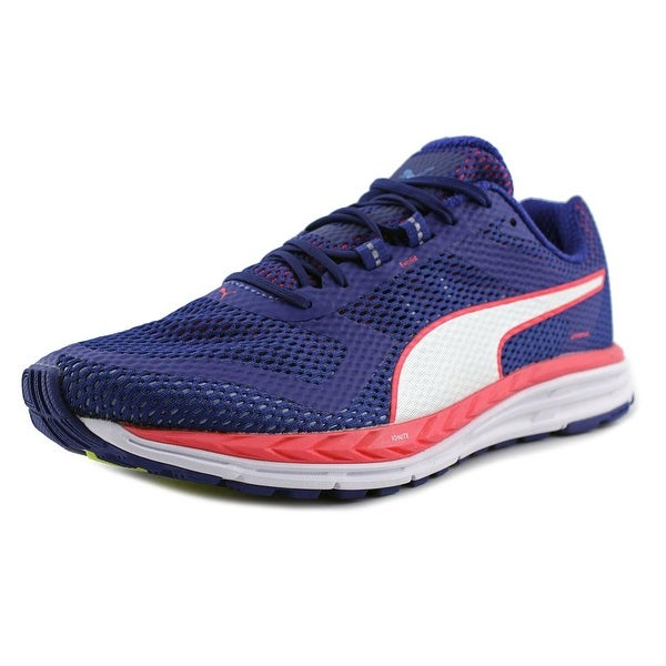 Puma Speed 500 Ignite Men Round Toe Synthetic Blue Running Shoe