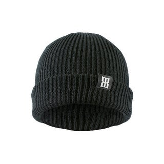 Bex Hat Adult Vector Beanie Ribbed Roll-up Woven Label 6 Seam B0001