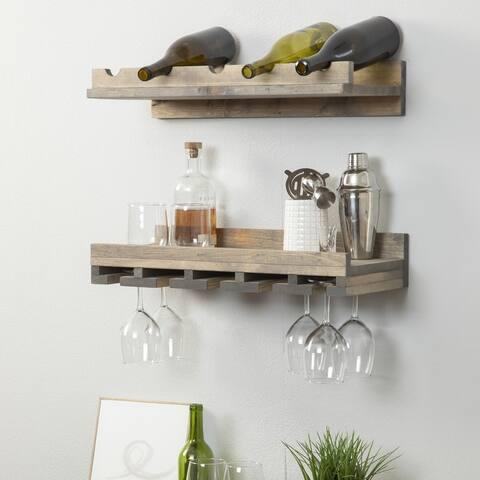 Rustic Luxe Tiered Wine Rack