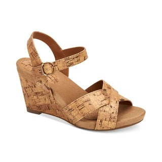 Style & Co. Womens Ferrnn Fabric Open Toe Casual Platform Sandals