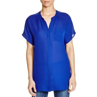 Vince Womens Button-Down Top Chiffon Button-Down Front