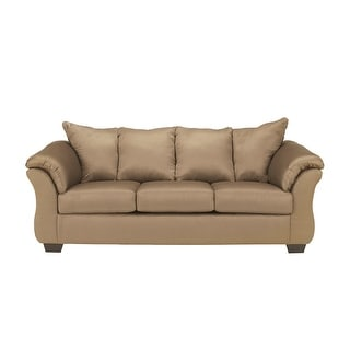 Offex Signature Design By Ashley Darcy Sofa In Mocha Fabric [OF FSD 1109SO