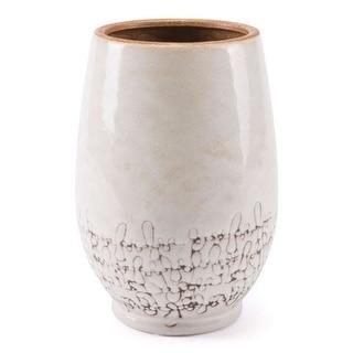 Small Soft Textured Vase White