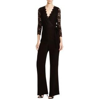 Diane Von Furstenberg Womens Marlowe Jumpsuit Lace Wrap
