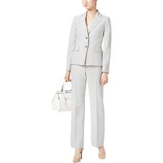 Le Suit Womens Pant Suit Pinstriped 2-Piece