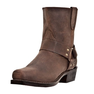 Dingo Motorcycle Boots Mens Rev Up Harness Zip Gaucho Nutty DI19094