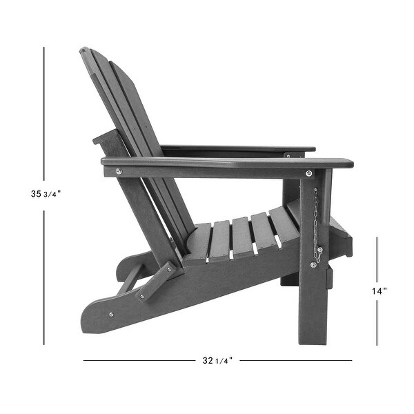 Laguna Outdoor Poly Folding Patio Adirondack Chair