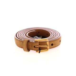 Dolce & Gabbana Dolce & Gabbana Beige Leather Suede Belt - 90-cm-36-inches