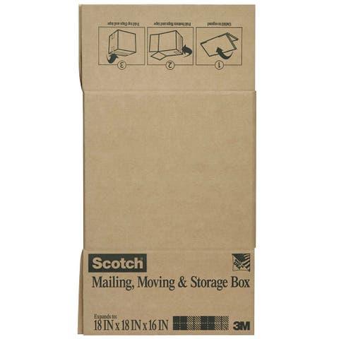 "Scotch 8018FB-LRG Folded Shipping & Storage Box, 18"" x 18"" x 16"", Brown"