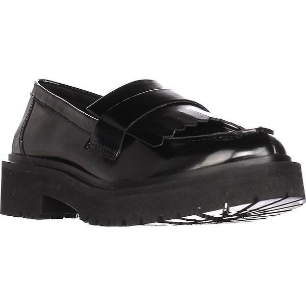 Nine West Account Platform Lug Sole Loafers, Black