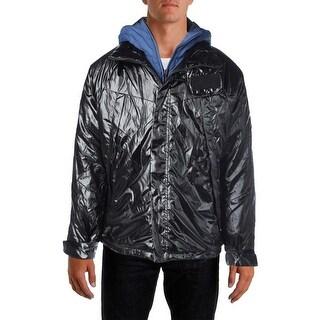 Nautica Mens Coat Water  Resistant Hooded