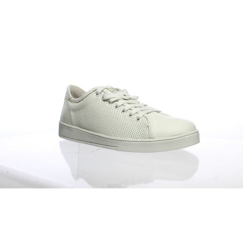 Blackstone Womens Rl72 Perforated Low Top White Casual Flats EUR 38