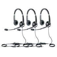 Jabra UC Voice 550 Duo Stereo Corded Headset w/ Noise Reduction System (3 Pack)